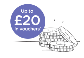 Up to £20 in vouchers