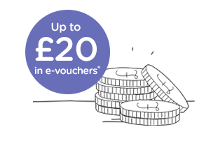 Up to £20 in e-vouchers