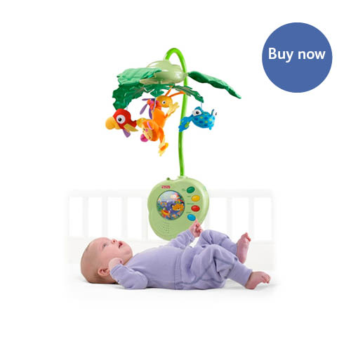 Fisher Price – Rainforest Peek-A-Boo Leaves Musical Mobile