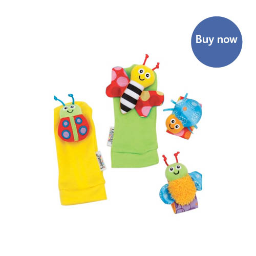 Tomy – Lamaze Garden Bug Writst Rattle & Footfinders Gift Set