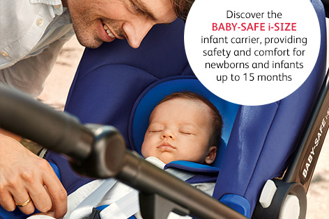 Discover the i-Size Baby Safe infant carrier, providing safety and comfort for newborns and infants up to 15 months
