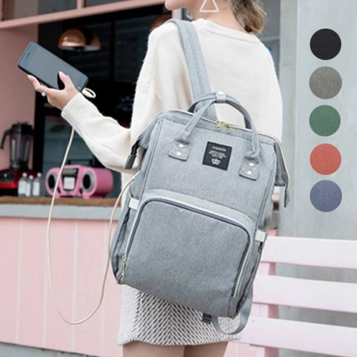 Baby Changing Backpack With Built-in USB Charger - 5 Colours