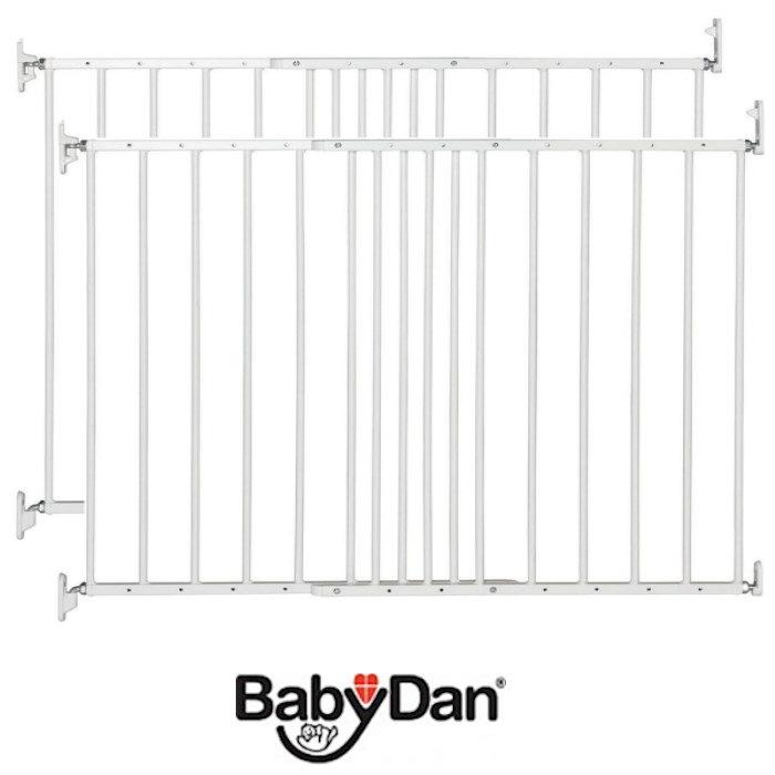 Babydan Multidan Baby Safety Gate (Pack of 2) - White (62.5 - 106.8cm)
