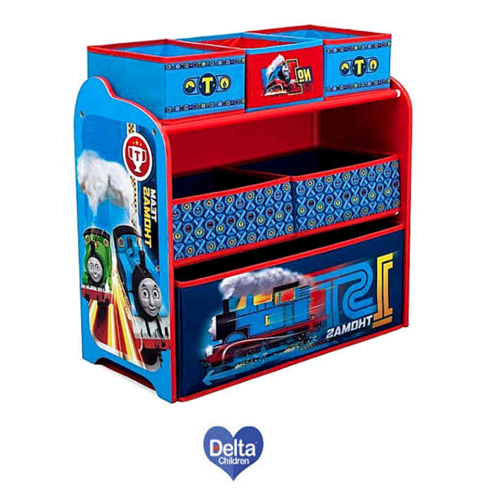 Delta Children Wooden Frame Multi-Bin Toy Organiser