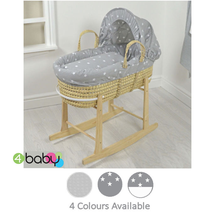 4baby Deluxe Palm Moses Basket  Rocking Stand