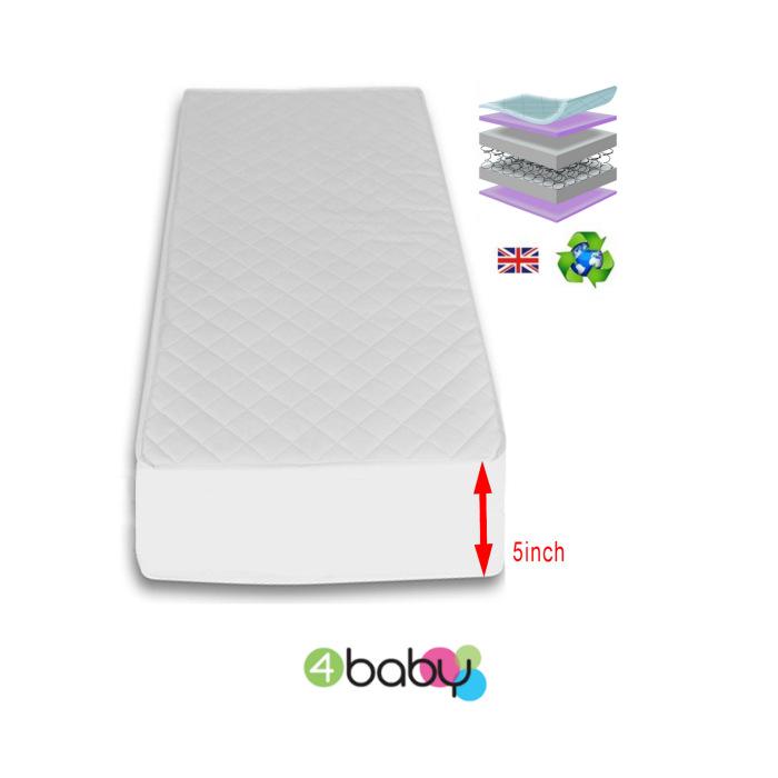 Sprung 140 x 70 mattress