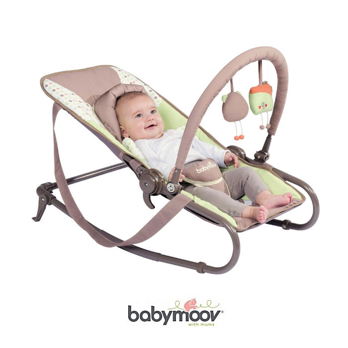 Babymoov Bubble Bouncer Chair - Green - Almond