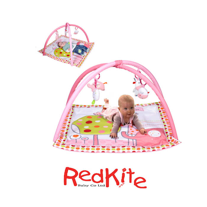 Red Kite Activity Mat Play Gym - Hello Ernest Pink