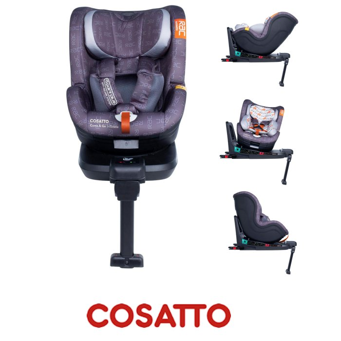 Cosatto RAC Come And Go 360 Spin Group 0 1 Isofix Car Seat Traffic Jam Grey