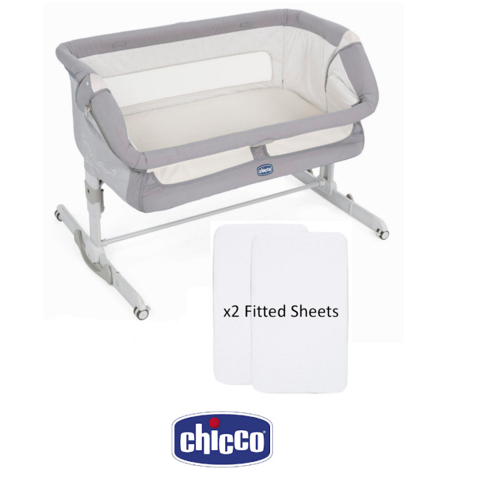 Chicco Next 2 Me Dream Crib With 2 Fitted Sheets