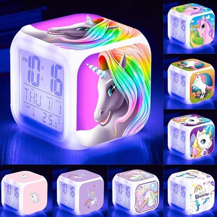 Unicorn LED Alarm Clock - 7 Designs