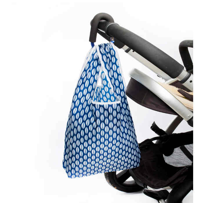 Blue -hanging off pushchair