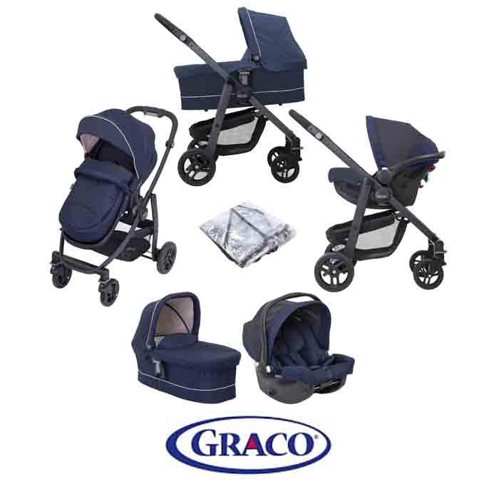 Graco Evo Trio (Snug Essentials i-Size Car Seat) Travel System with Carrycot