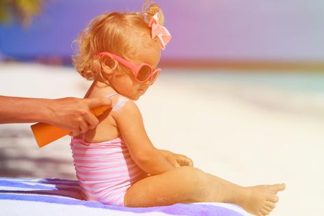 toddler girl on beach