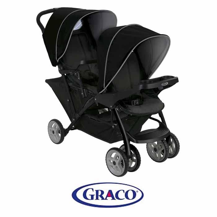 Graco Stadium Duo Tandem Pushchair - Black Grey