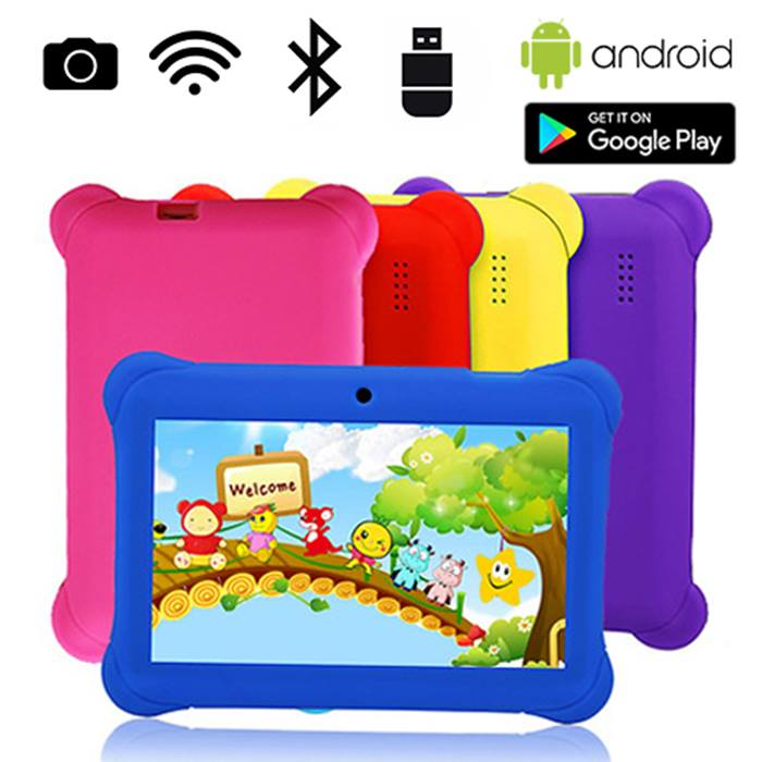 7 Inch Quad Core 8GB Wi-Fi Bluetooth Kids Tablet With Bumper Case - 5 Colours