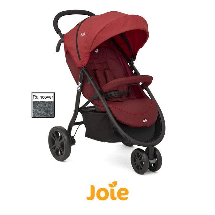 Joie Litetrax 3 Wheel Stroller - Cranberry