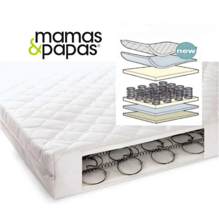 Mamas  Papas Sleepfresh 400 Sprung Interior Cot Bed Mattress  140 x 69cm