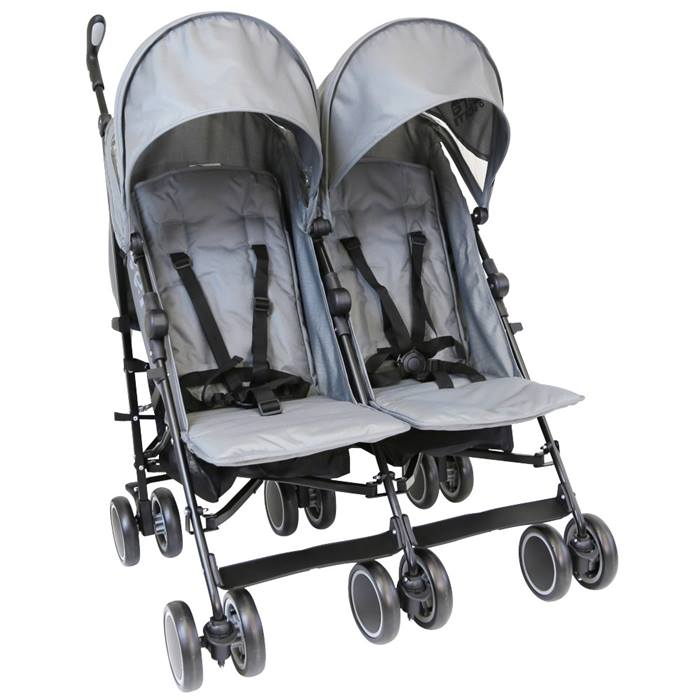 Zeta CiTi Twin Stroller (Grey)