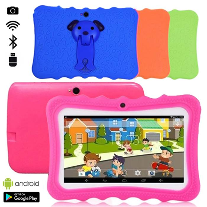 7 Inch Quad Core 8GB Wi-Fi Kids Tablet with Bumper Case - 4 Colours