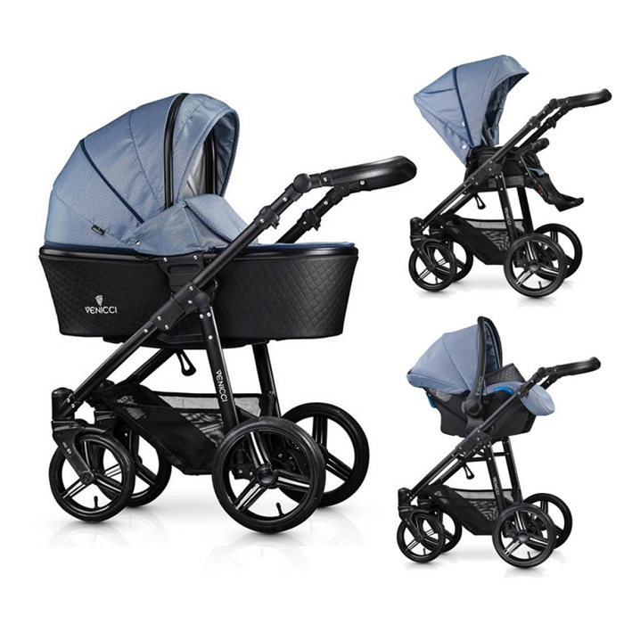 Venicci Shadow 3in1 Travel System-Midnight Blue