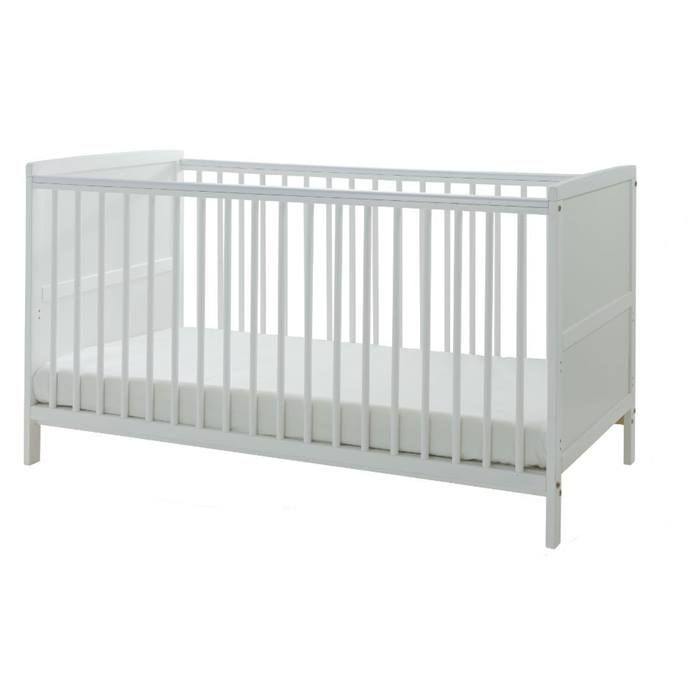Kinder Valley Cot Bed & Mattress Bundle (White)