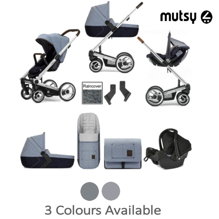 Mutsy I2 Travel System With Carrycot & Accessories