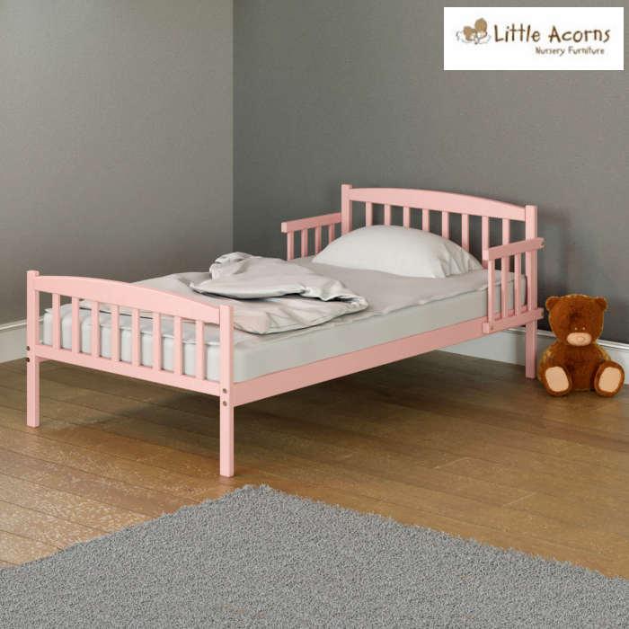 Little Acorns Toddler Bed Deluxe Foam Mattress Pink