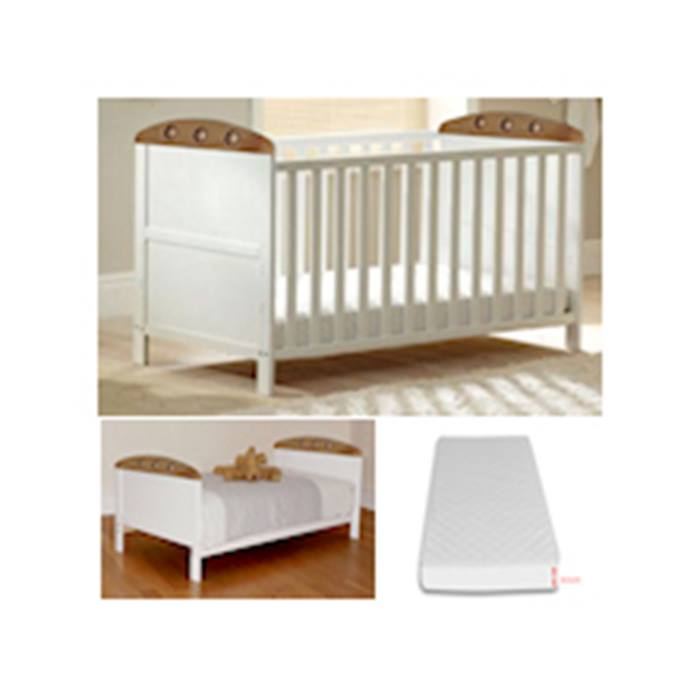 4baby-Playball-Cot-Bed-With-Fibre-Mattress-White-Beech