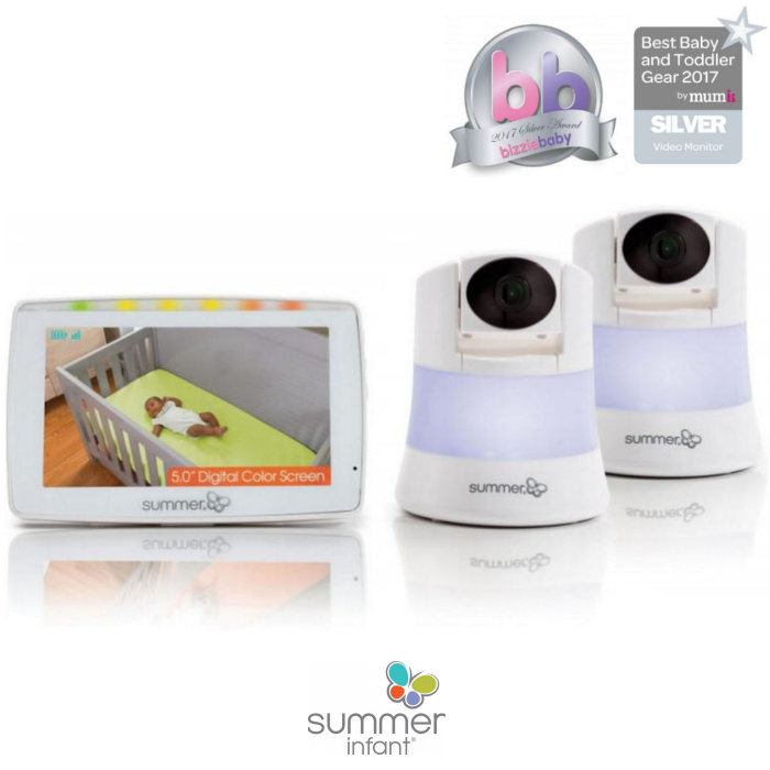 Summer Infant Wide View 2.0 Duo Digital Video Baby Monitor & 2 Cameras