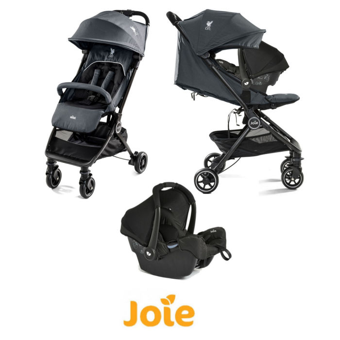 Joie Pact Flex (Gemm) Travel System - (LFC) Black Liverbird