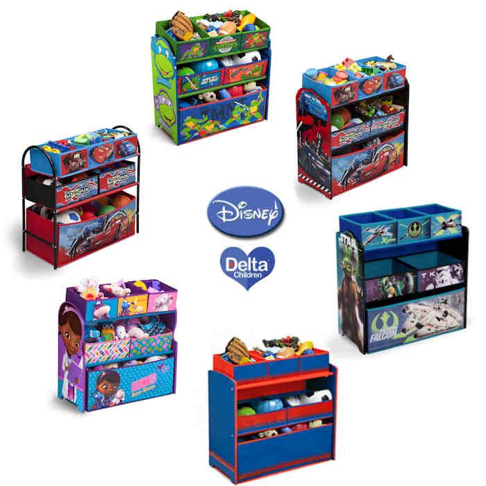 Delta Children Disney Multi-Bin Toy Organiser