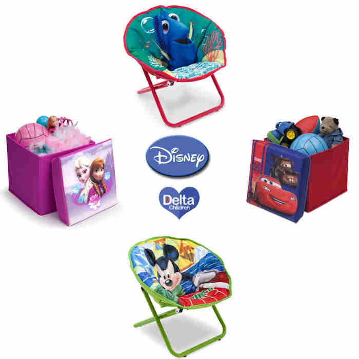 Delta Disney Folding Chair  Collapsible Ottoman