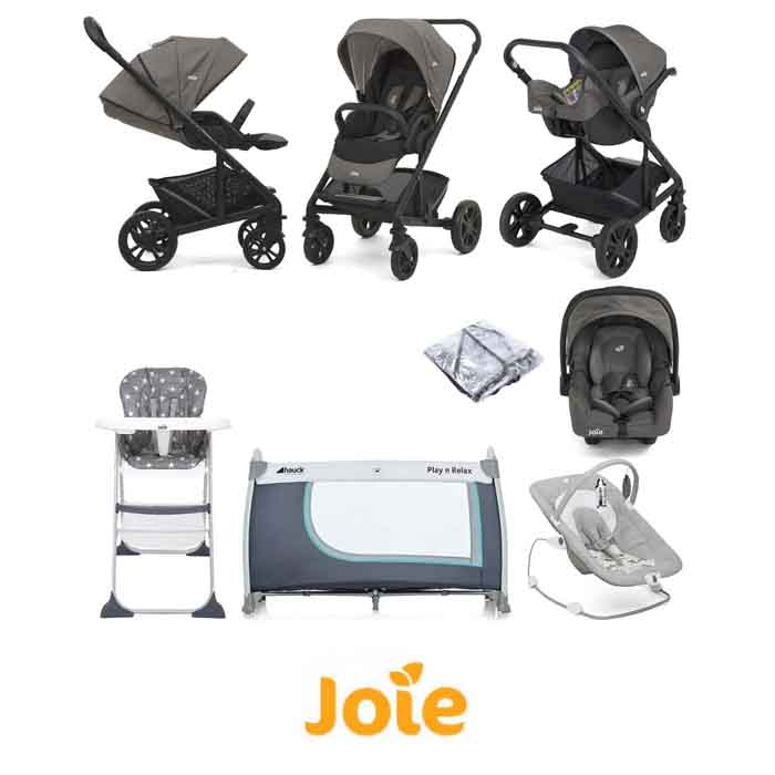 Joie Chrome (Gemm) Everything You Need Travel System Bundle