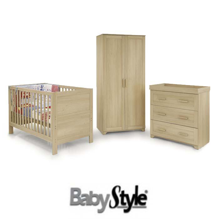 Babystyle Monaco 4 Piece Nursery Furniture Room Set with Deluxe Eco Fibre Mattress