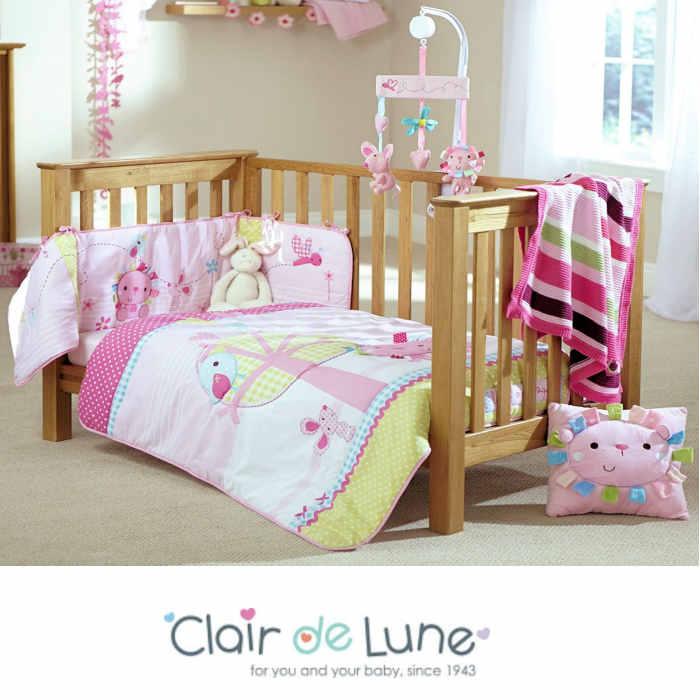 Clair De Lune Lottie & Squeek Pink Cot / Cot Bed Quilt & Bumper Set