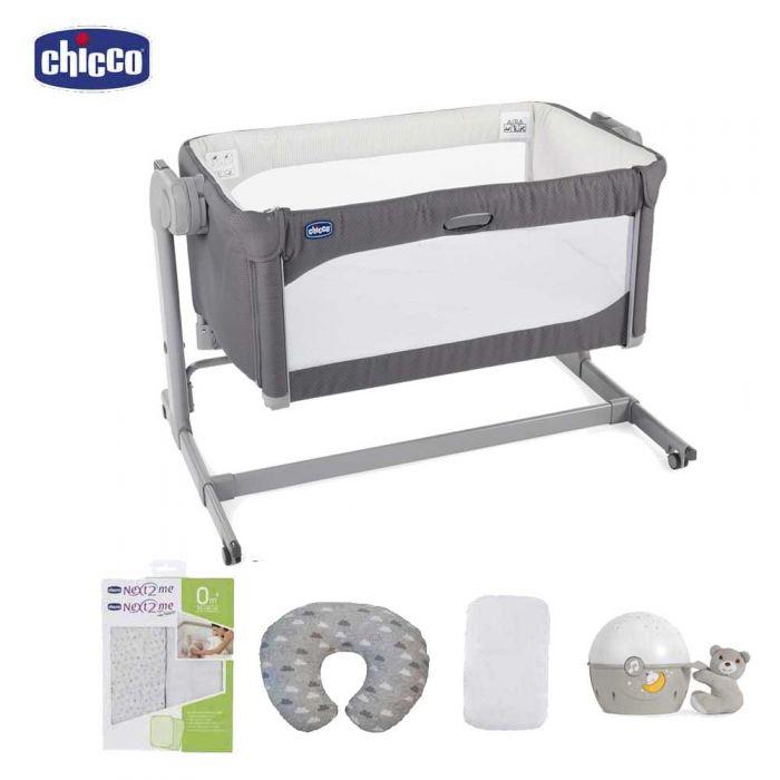 Chicco Next2Me Magic Crib Bundle - Moon Grey