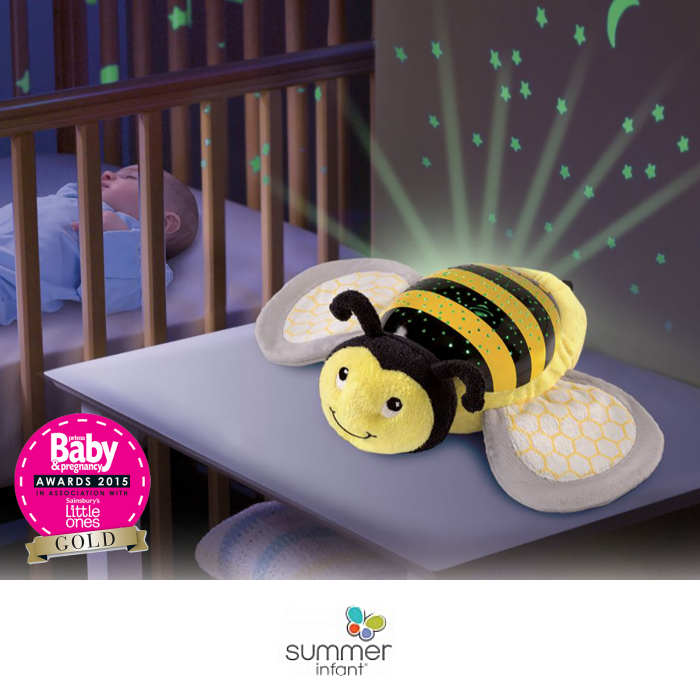 Summer Infant Slumber Buddies Nightlight Projector - bee