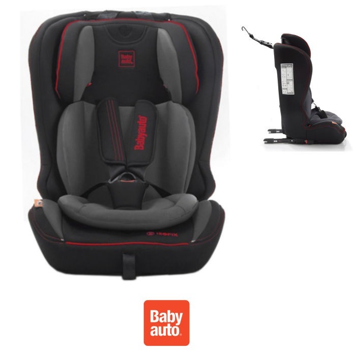Babyauto YodaFix Every Stage Group 1,2,3 ISOFIX Car Seat - Black / Grey