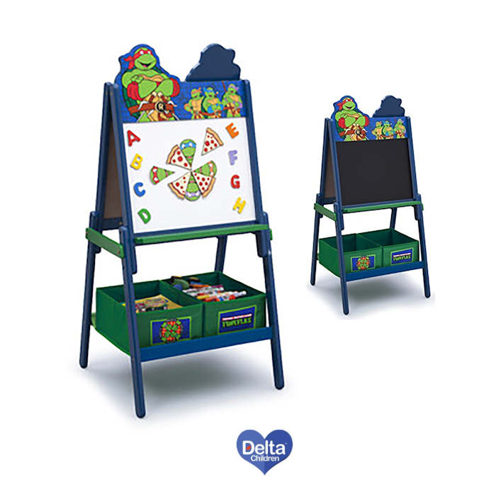 Delta Children Double Sided Wooden Art Easel -TMNT