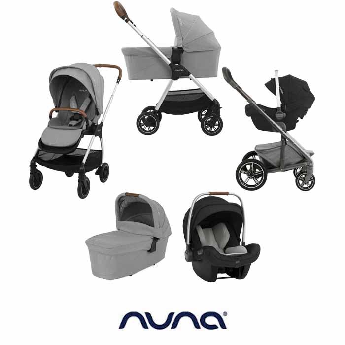 Nuna Triv Pipa Next Travel System Carrycot Frost Grey