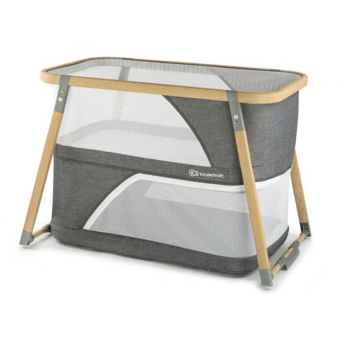KinderKraft Sofi 2 in 1 Crib (Grey)