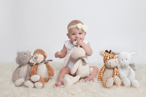 Ivy with soft toys