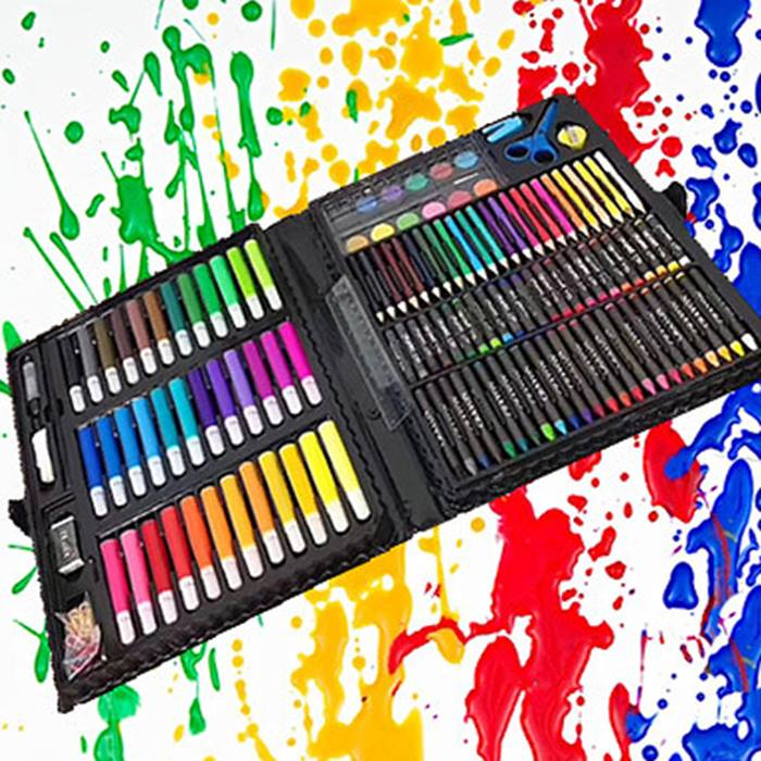 150-Piece Kids' Colour Pen & Pencil Art Set