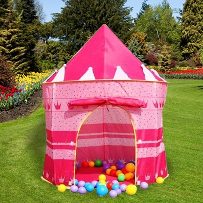 Children's Pop Up Castle Playhouse - 2 Colours