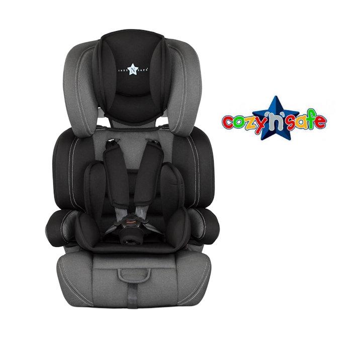 Cozy N Safe Logan Group 1-2-3 Car Seat - Black-Grey