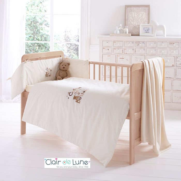 Clair De Lune Cute As A Button 3 Piece Cot - Cotbed Bedding Bale - Cream