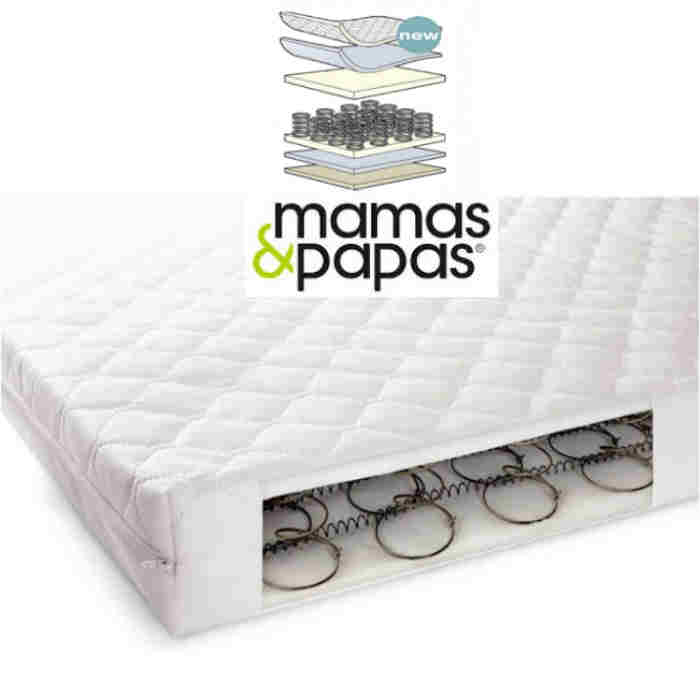 Mamas  Papas 200 Sprung Cot Mattress 120x60