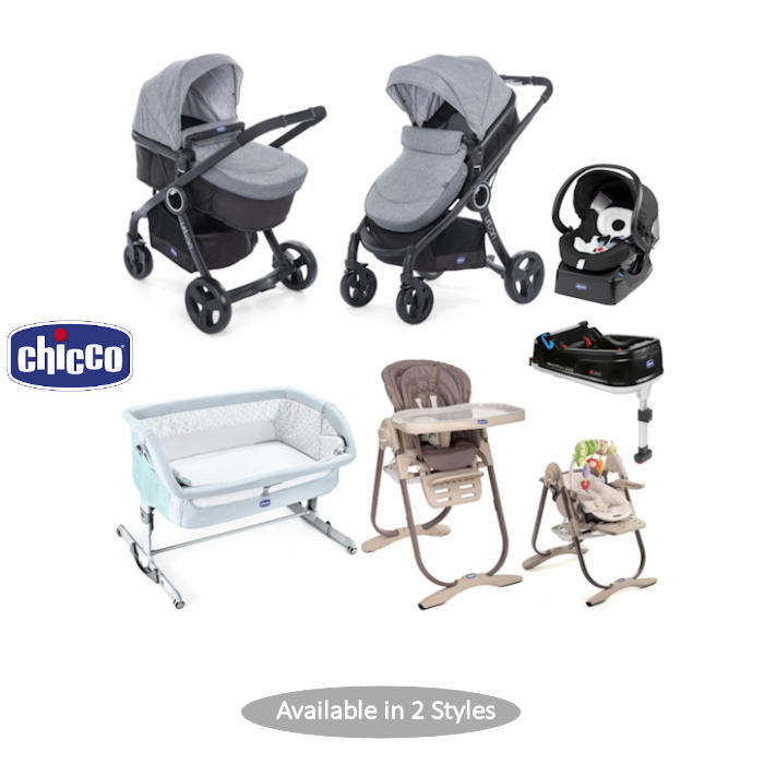 Chicco 4 Piece Urban Plus Travel System Everything You Need Bundle