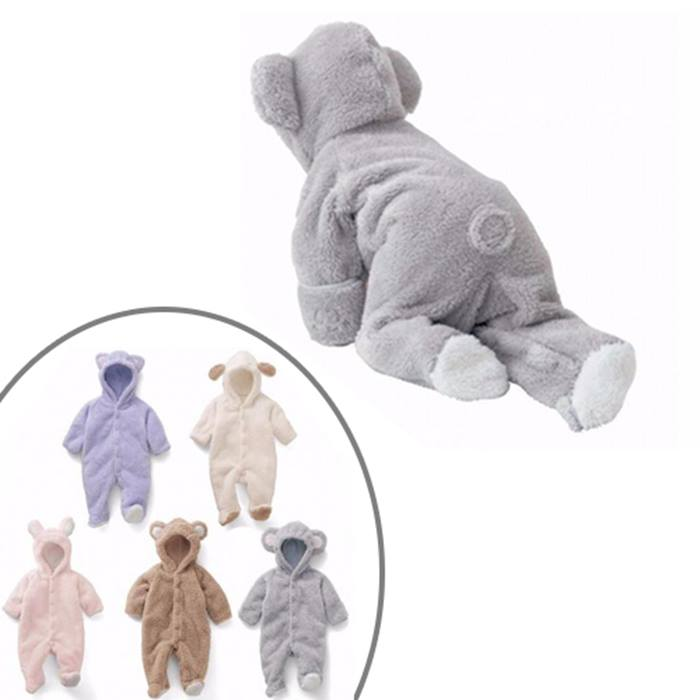 Newborn Baby Teddy Romper - 4 Sizes & 5 Colours
